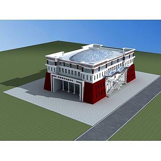 藏式会展中心3d模型