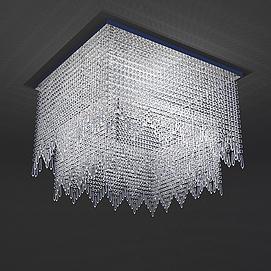 水晶吸顶灯模型