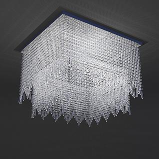 水晶吸顶灯3d模型
