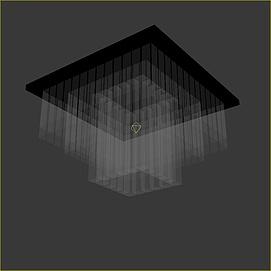 玻璃吸顶灯模型
