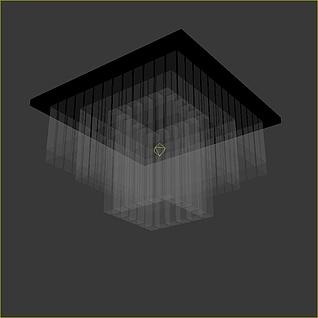 玻璃吸顶灯3d模型
