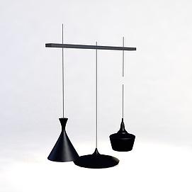厨房铁艺吊灯3D模型