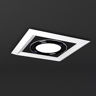 格栅灯3d模型