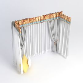 飘窗窗帘组合模型