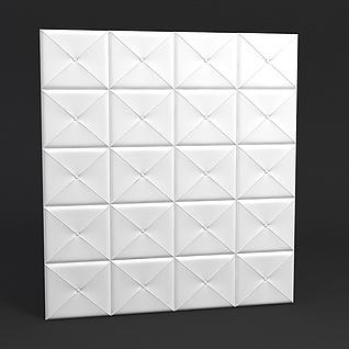 软包模型3d模型