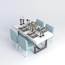 简约餐桌模型