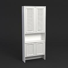 百叶鞋柜模型3d模型