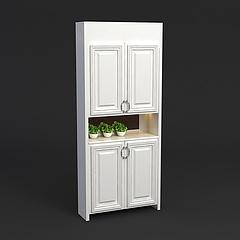 简欧鞋柜模型3d模型