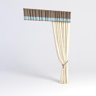 简约窗帘3d模型