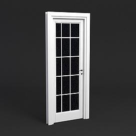 简约玻璃门模型
