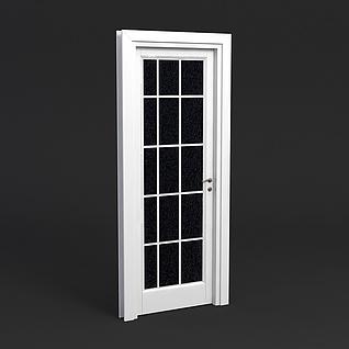 简约玻璃门3d模型