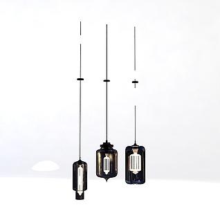 北欧餐厅吊灯3d模型