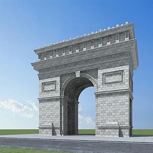 凱旋門模型3d模型