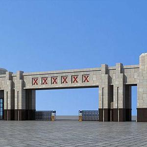 大门入口模型3d模型