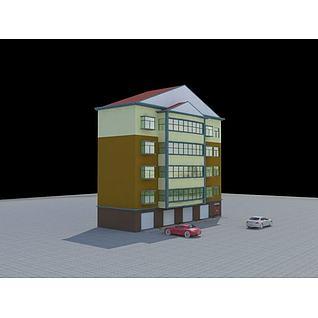 住宅带车库3d模型