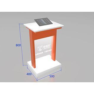ipad展示立柜3d模型