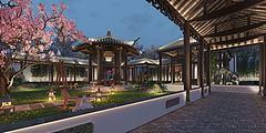 中式庭院园林景观模型3d模型