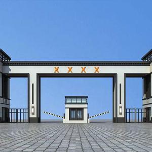 现代大门入口模型3d模型