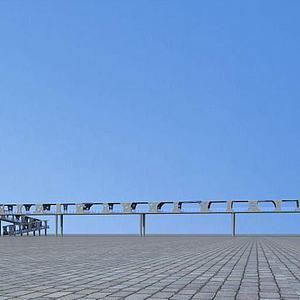 过街天桥模型3d模型