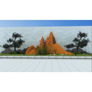 现代假山小品3d模型