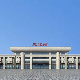 敦化火车站3d模型