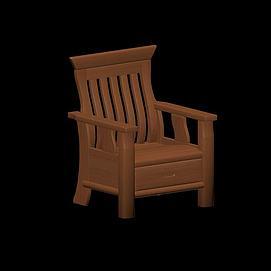 中式扶手椅模型