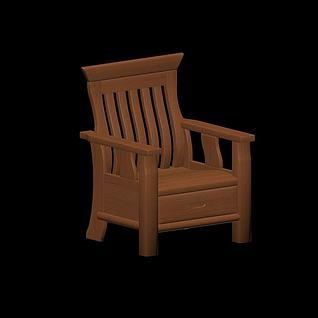 中式扶手椅3d模型