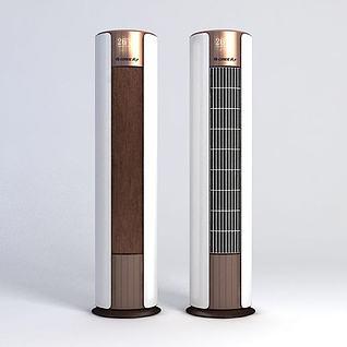 立式空调3d模型3d模型
