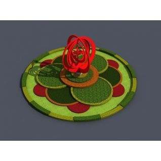 环岛景观3d模型
