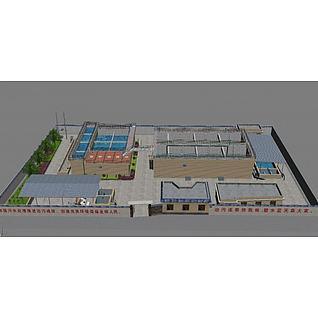 水厂设备模型3d模型