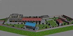 水厂模型模型3d模型