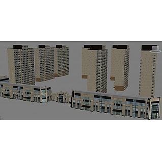 小区建筑3d模型