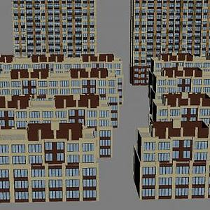 小區建筑模型3d模型