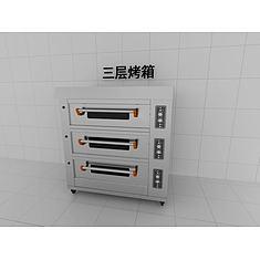 三层烤箱3D模型3d模型