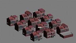 别墅建筑3d模型