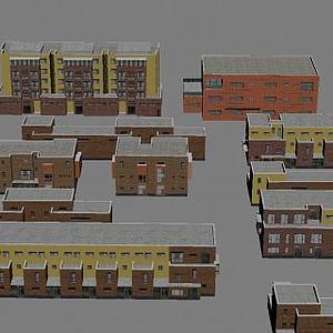 別墅小區模型3d模型