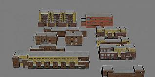 别墅小区3d模型
