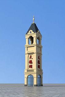 塔楼3d模型