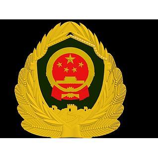 警徽徽章3d模型3d模型