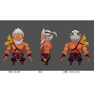 游戏动漫角色人物3d模型