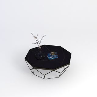 美式客厅茶几3d模型