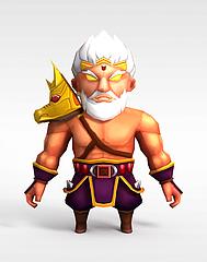 游戏动漫角色人物模型3d模型
