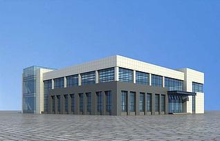 厂区办公楼3d模型