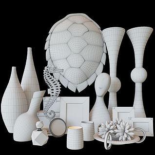 现代装饰品3d模型