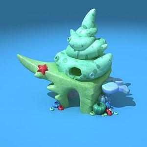 贝壳小屋模型
