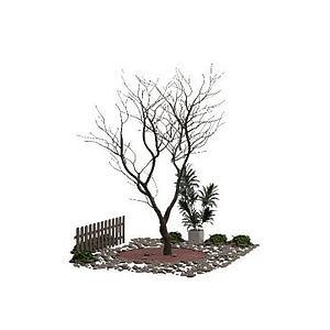 景觀樹3d模型