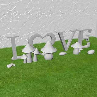 园林小品3d模型