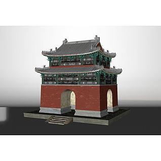 功德碑亭子3d模型