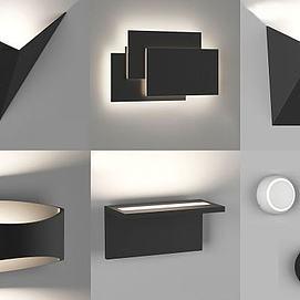 现代简约壁灯组合模型