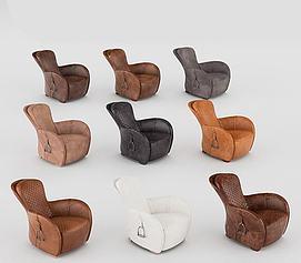 现代皮质沙发模型